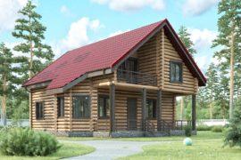 Дом 16х11 с мансардой (ДБ-45)