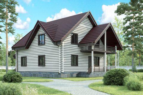 Дом 14х10 с мансардой (ДБ-43)