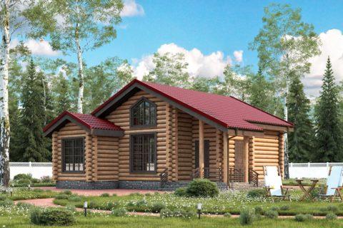 Дом 11х10 с террасой (ДБ-40)