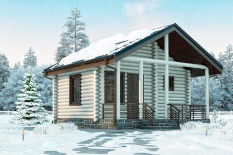 Дом 6х6 с террасой (ДБ-25)