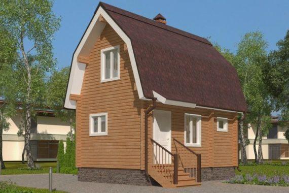 Дом-баня 6х4 с мансардой (БПБ-15)