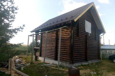 Дом 7х9 из оцилиндрованного бревна