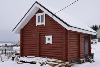 Дом-баня 6х6 рубленное бревно
