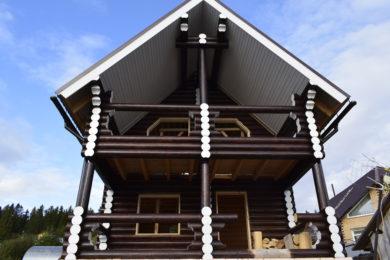 Дом 6х8 из оцилиндрованного бревна