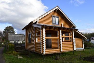 Дом 6х6 из оцилиндрованного бревна